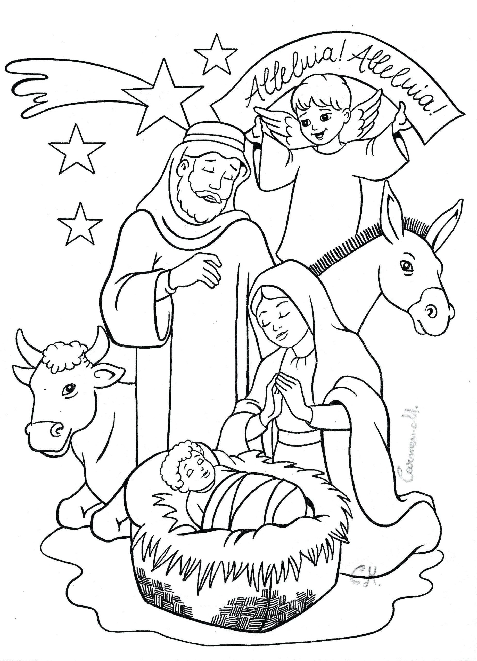 Nativity Coloring Pages Free Printable Coloring Book Coloring Book Free Nativity Scene Page In 2020 Nativity Coloring Pages Nativity Coloring Christmas Coloring Sheets