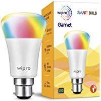 Wipro Garnet Smart Light 7w B22 Led Bulb Compatible With Amazon Alexa Google Assistant Wipro Garnet Smart Light 7w B22 Le Led Bulb Smart Lighting Smart Bulb