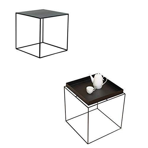 Marvelous Xbbz Black Metal Square Table Simple Modern Wrought Iron Inzonedesignstudio Interior Chair Design Inzonedesignstudiocom