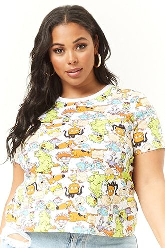 d96cfede9c7e Plus Size Rugrats Graphic Tee | Forever 21 | clothes | Floral tops ...