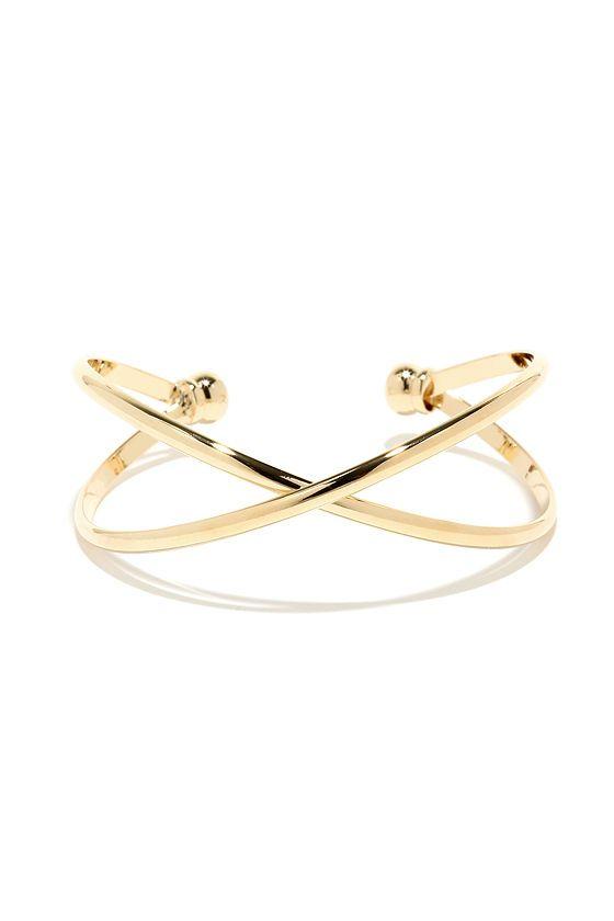 Cross X-amined Gold Bracelet