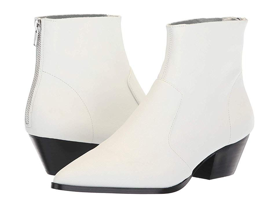 abee973db23 Steve Madden Cafe Bootie (White Leather) Women's Boots. Go western ...