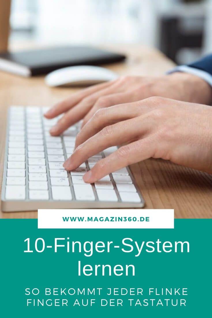 Flinke Finger Auf Der Tastatur Das 10 Finger System In 2020 10