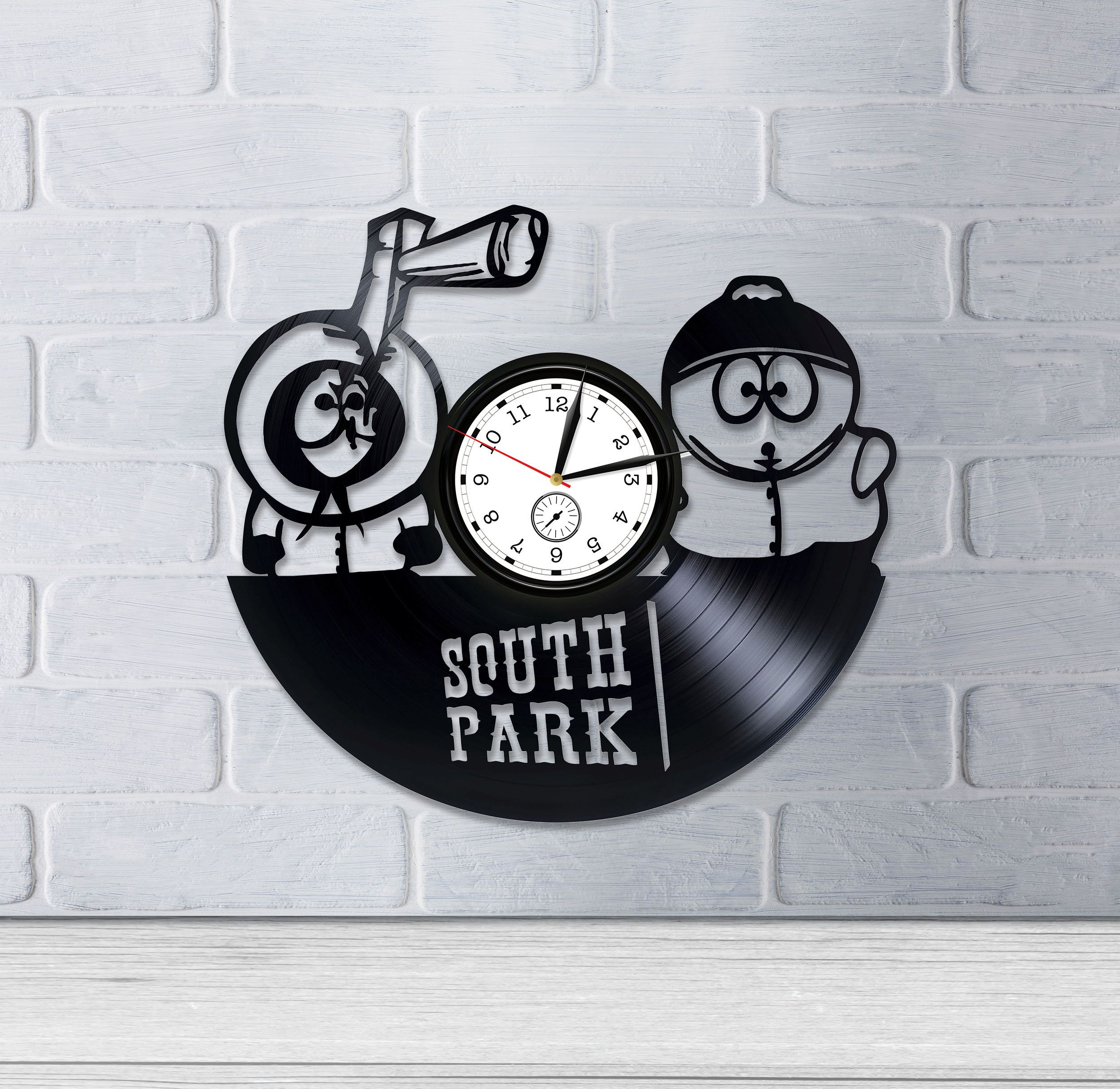 South Park Clock Children Room Art Cartoon Gift Birthday Gift For Fan South Park Wall Art Retro Vinyl R Kids Room Art Vintage Wall Clock How To Make Wall Clock