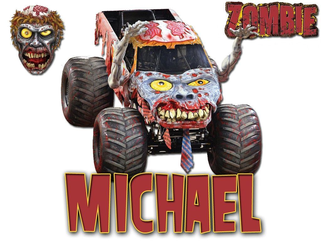 personalized custom name t shirt moster zombie monster jam