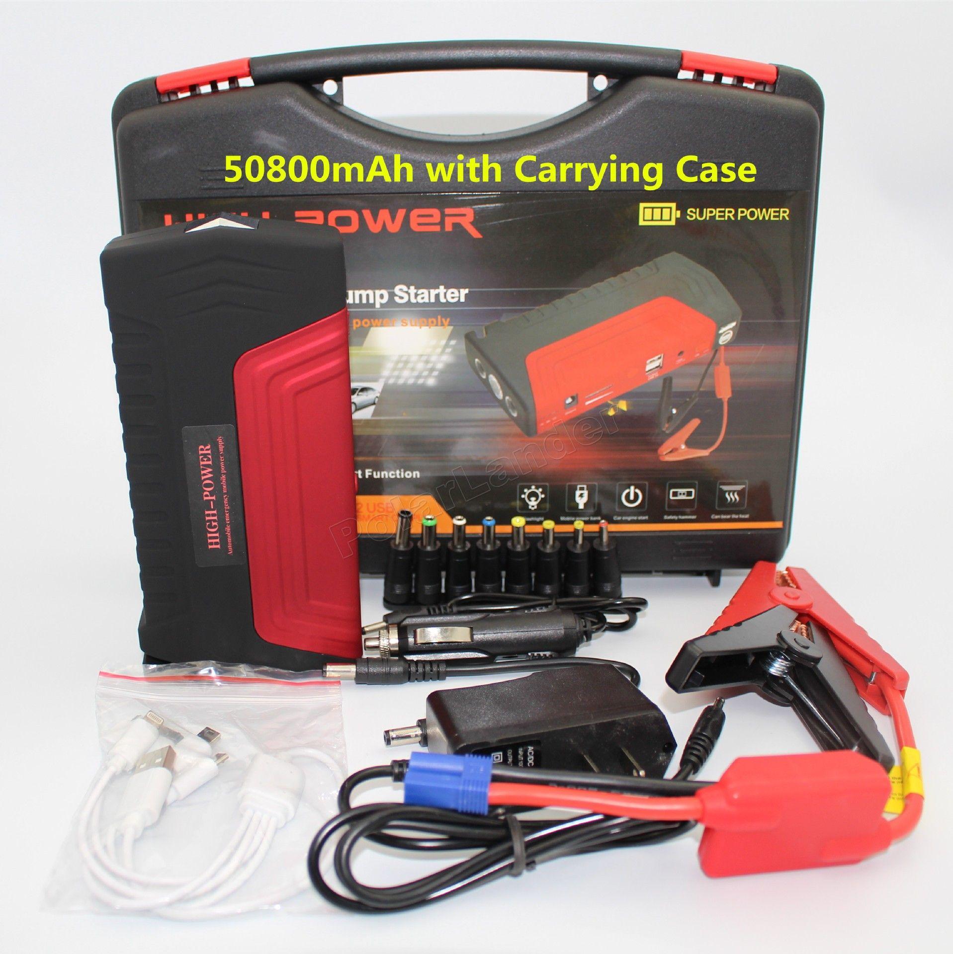Hot Sale Red 2 Usb Port Multi Function Portable 50800mah Car Jump Starter Emergency Power Emergency Auto Start Bank Emergency Power Car Electronics Auto Start