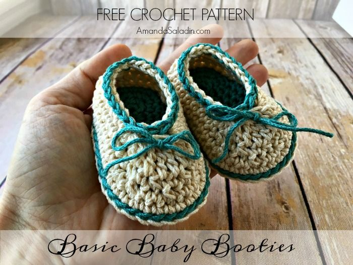 Basic Baby Booties - Free Crochet Pattern | crochet shoes ...