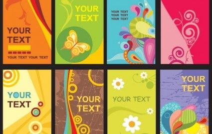 Colorful Card Templates Colorful Business Card Vector Business