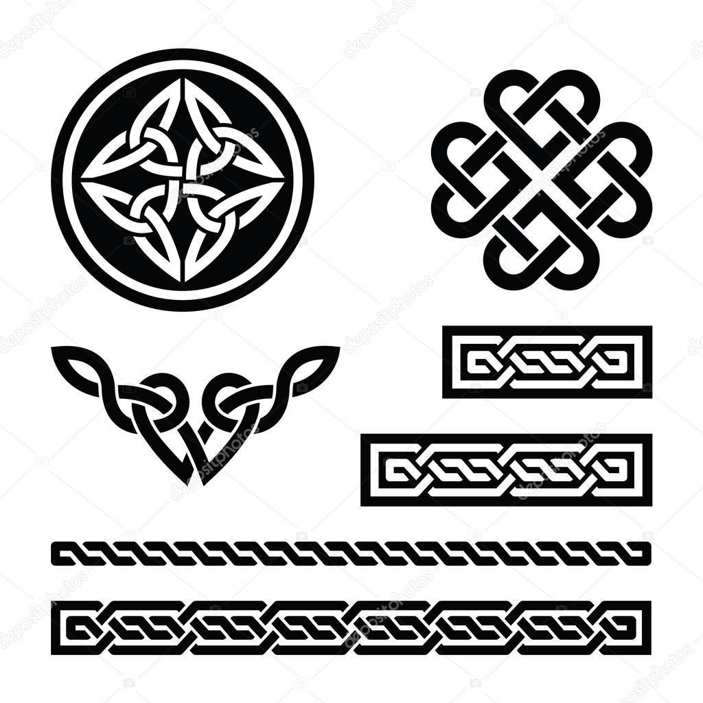 Herunterladen Keltische Knoten Zopfe Und Muster Vektor Stockillustration 19183825 Keltischer Knoten Designs Keltisch Keltische Knoten