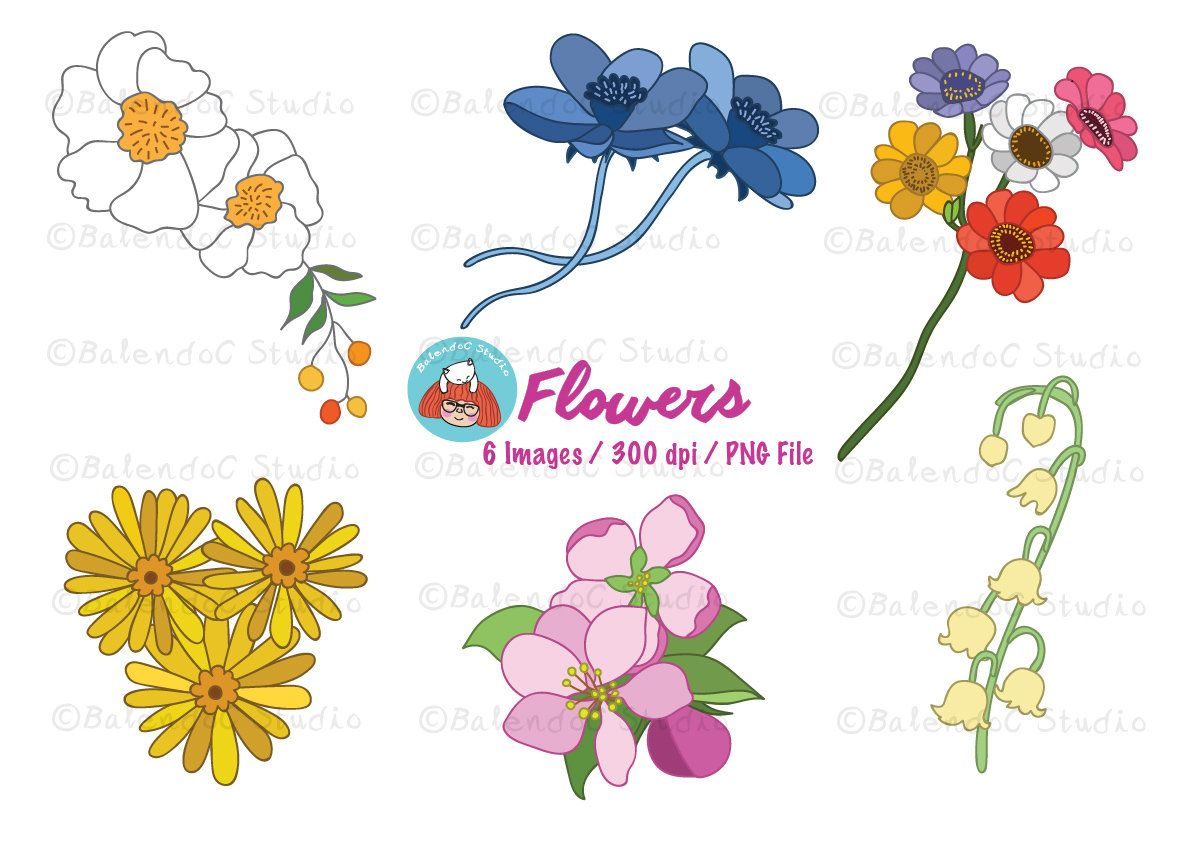 Flower clipart beautiful flowers vector clipart flower flower clipart beautiful flowers vector clipart flower illustrations instant download flb1 izmirmasajfo