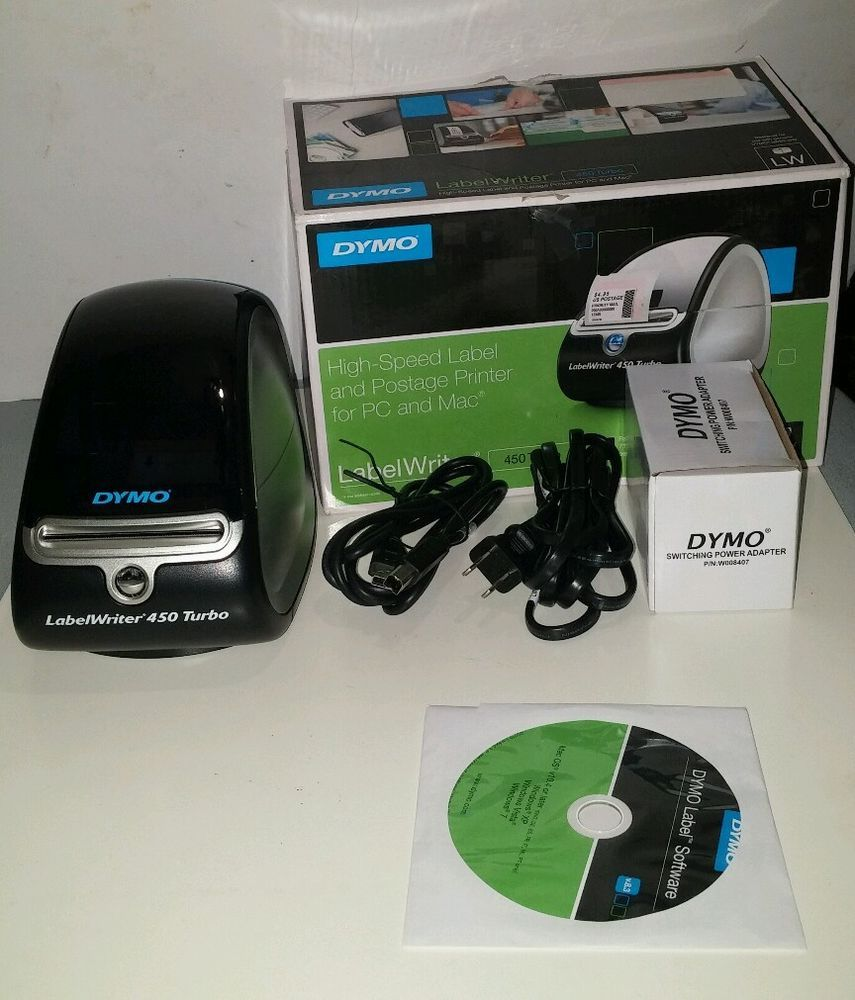 Dymo LabelWriter 450 Turbo Thermal Label Printer for PC or