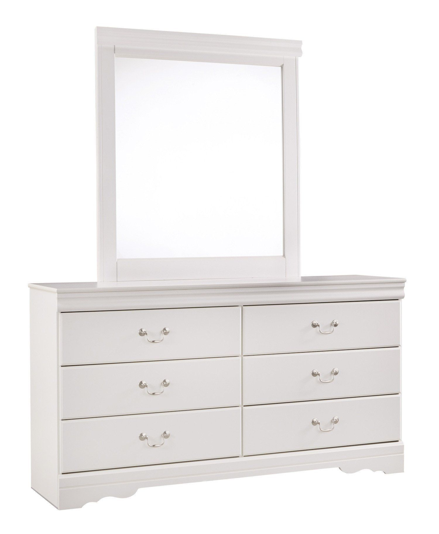 Best Ashley Anarasia 5Pc Full Sleigh Bedroom Set With Chest In White … Mirrored Bedroom 400 x 300