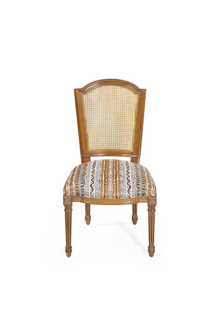 The Bob Louis Xvi Dining Chair Is Shown In Oak Wood With A  # Muebles Leblon Cordoba