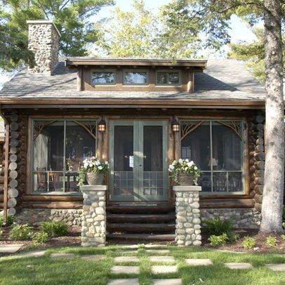 Adirondack Style Design Ideas Pictures Remodel And Decor Rustic Exterior Small House Tiny Cottage
