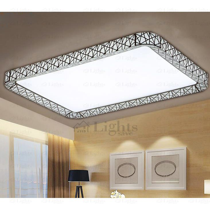 Rectangle Led Bedroom Modern Flush Mount Ceiling Lights In