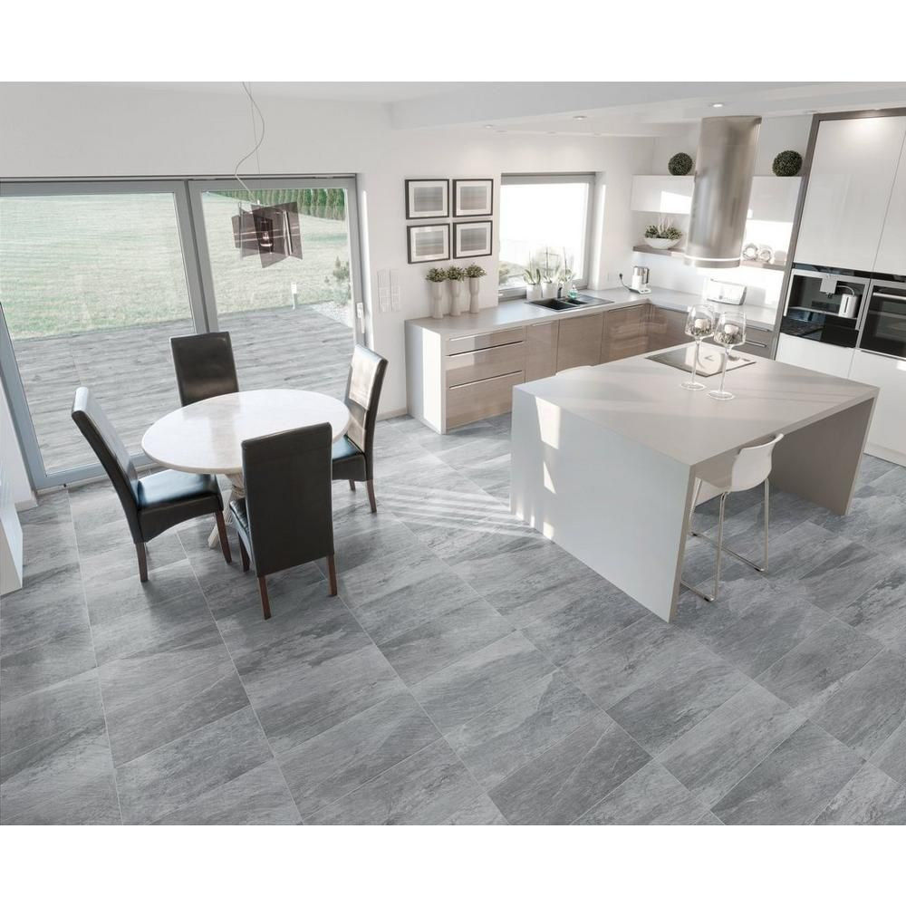 rockwood gray wood plank porcelain tile - 8in. x 36in. - 100221043