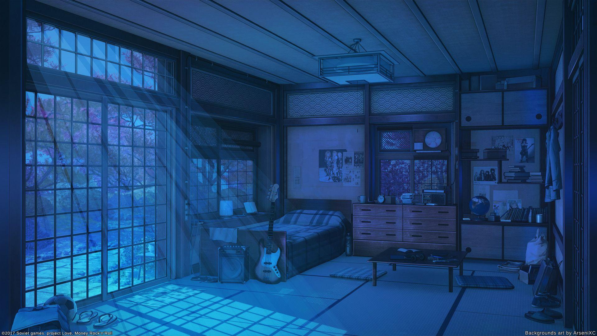 Artstation Old House Night Set Arseniy Chebynkin Anime