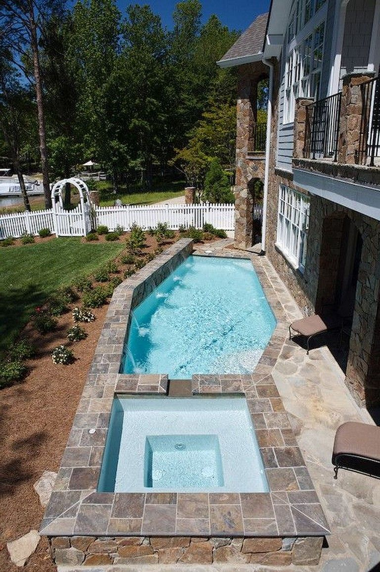 35 Small Backyard Swimming Pool Designs Ideas You'll Love on Pool Patio Ideas On A Budget id=62101