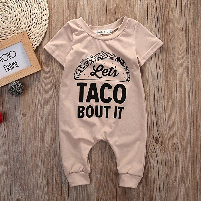 Baby Girls Jumpsuit I Love Tacos Baby Clothes