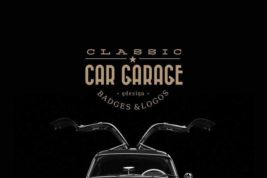 Ad: Classic Car Garage Logos by g design on Creative Market. The set contains 12…
