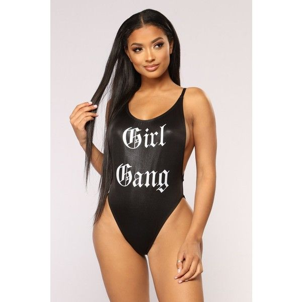 Girl Gang Swimsuit Black ( 30) ❤ liked on Polyvore featuring swimwear 35fdd92a3