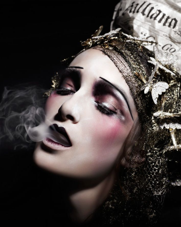 Makeup by the legendary Pat Mcgrath. John Galliano Spring/Summer 2010
