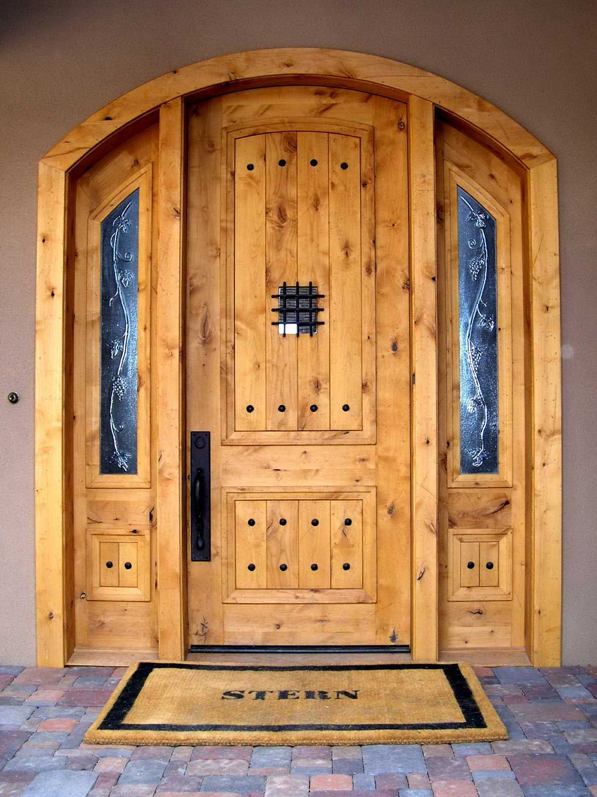 Doors exterior reinforce home design through doors for Wooden single door design for home