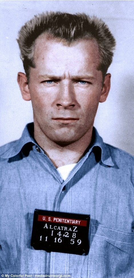 James 'Whitey' Bulger is pictured at Alcatraz prison in 1959
