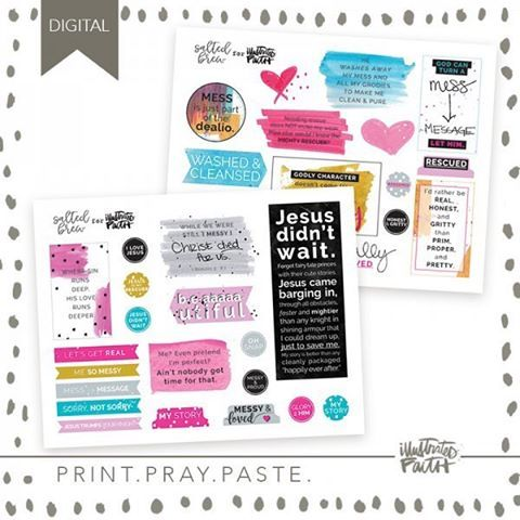 "My new set called ""Mighty Rescuer"" is LIVE in the @illustratedfaith Print and Pray shop. Remember to use ""IFTURNS2SALE"" to save 50% off your purchase and #printprayshop to show off what you make - we love seeing what you do! 💛 #illustratedfaith #biblejournaling #documentedfaith #digitaldownload"