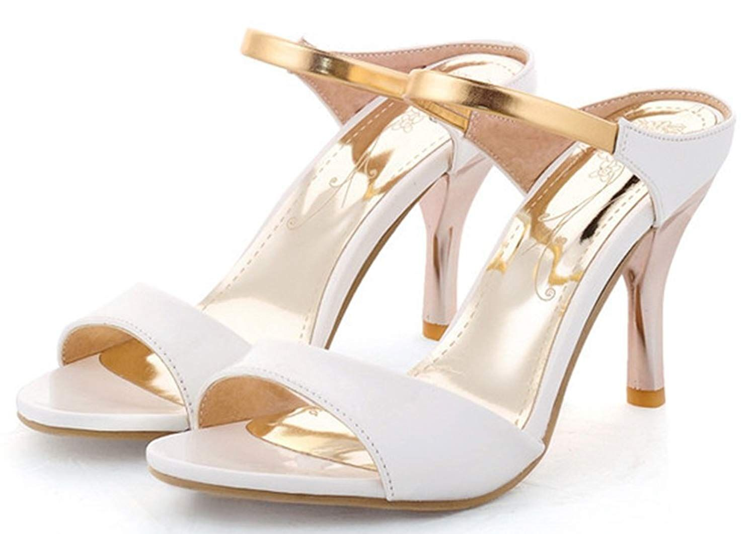 98e39061e38 IDIFU Women's Unique Ankle Strap Stiletto Kitten Heel Sandals Slip On Open  Toe Shoes * Very nice of your presence to drop by to visit the picture.