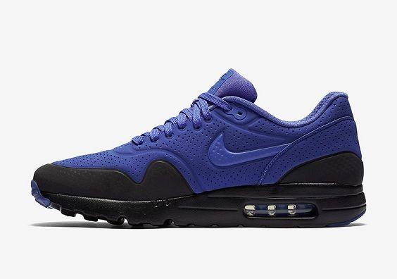 on sale 9efb0 74791 Violet Noir Running Nike Air Max 1 Ultra Moire Femme Homme Pas Cher