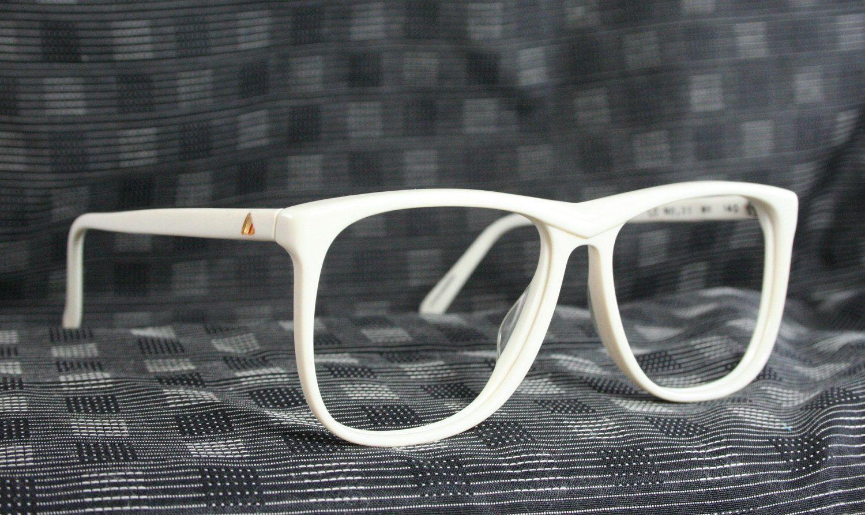 Vintage 80s Glasses 1980s Oversize Eyeglasses White Flat Top NOS ...