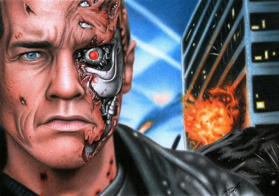 17 Exterminador Do Futuro Desenho Realista