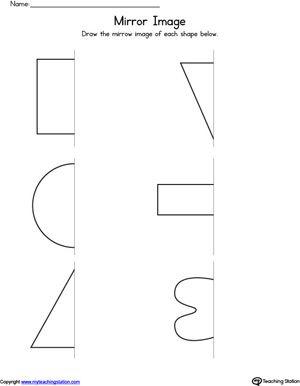 basic shapes mirror image worksheet ssa mirror image shapes worksheets shapes for kids. Black Bedroom Furniture Sets. Home Design Ideas