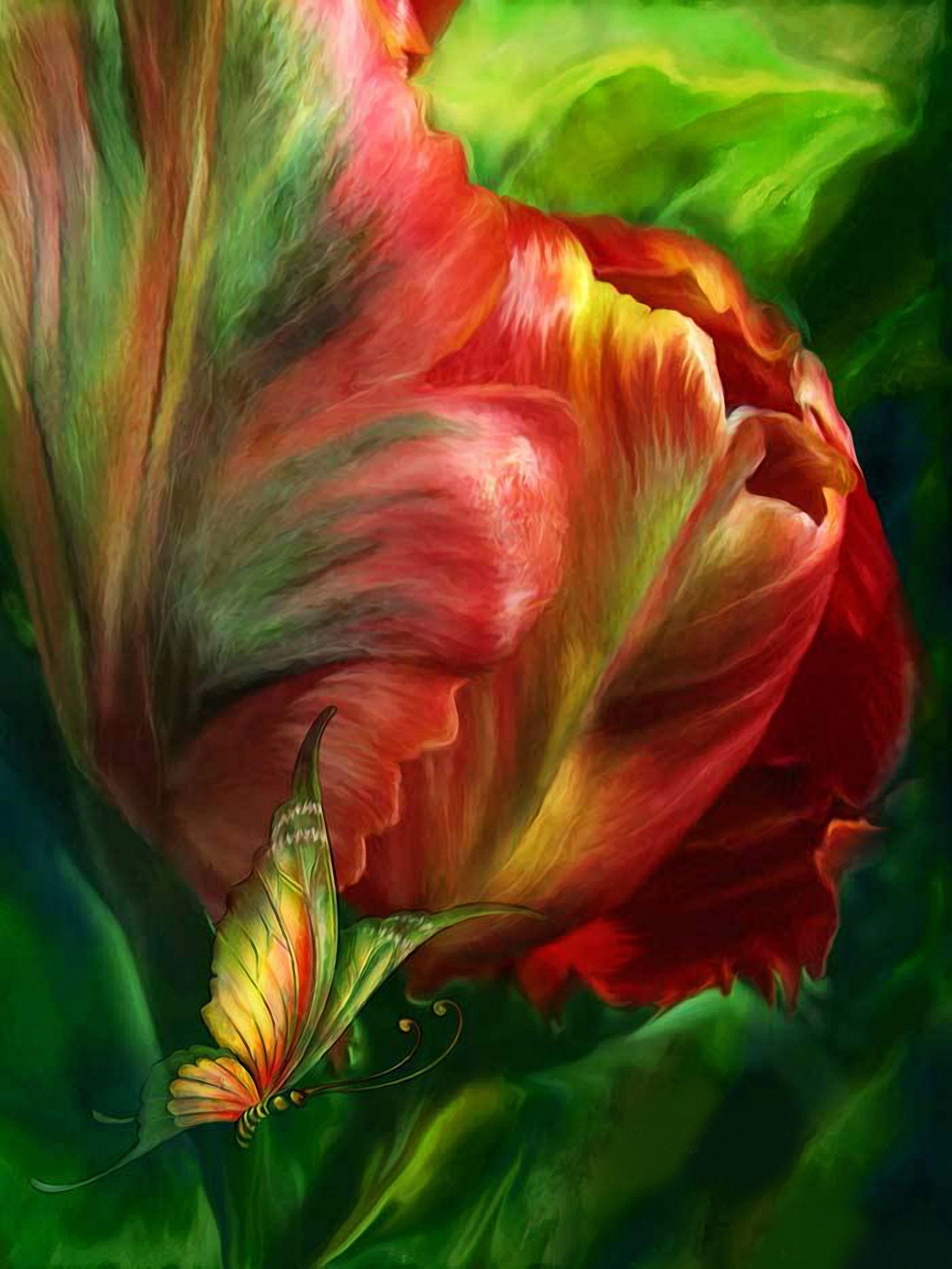 них картинки фантазийных цветов или искусственный камень