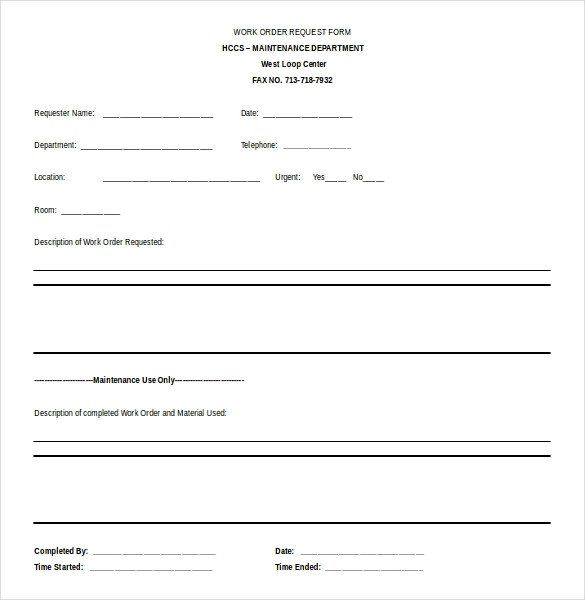 work request form template elegant 11 microsoft word 2010