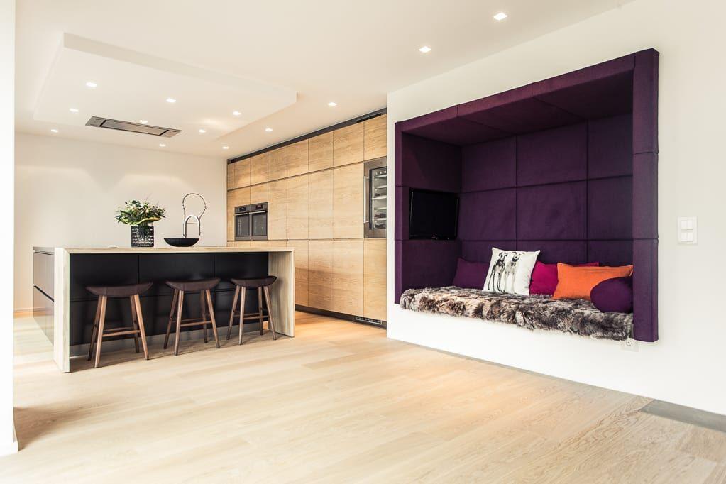Moderne Esszimmer Bilder Renovierung einer Villa am Stadtrand von - unterschrank beleuchtung küche