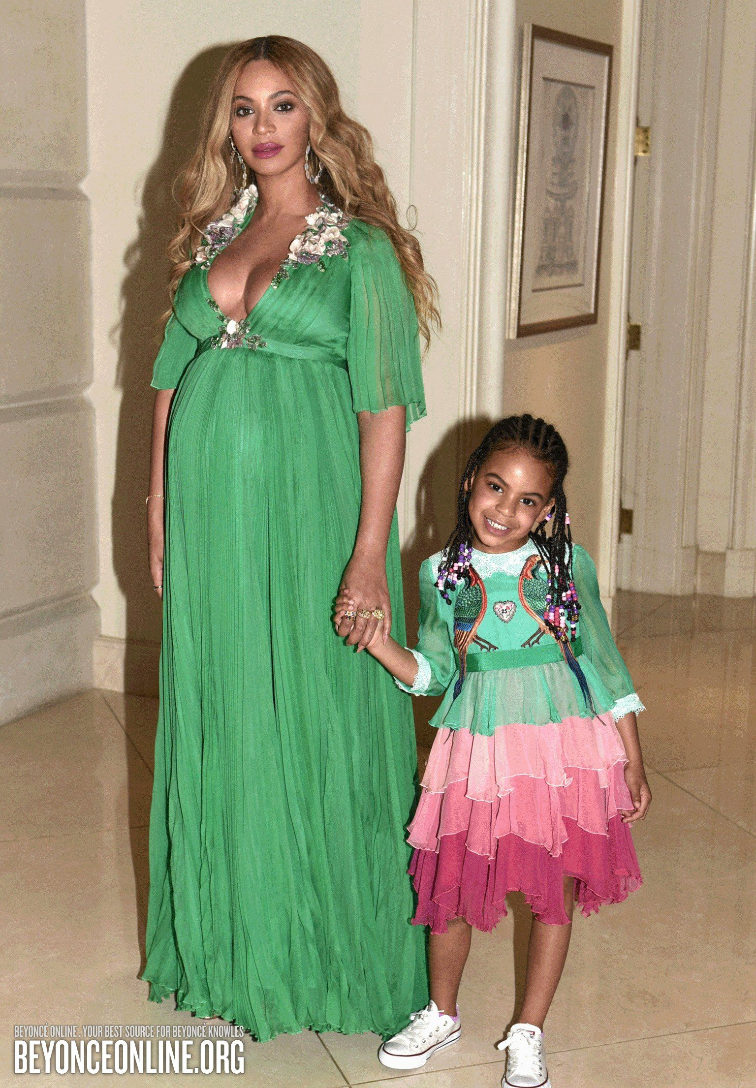 My Life Beyonce Online Photo Gallery Tiered Dress Blue Ivy Carter Fashion