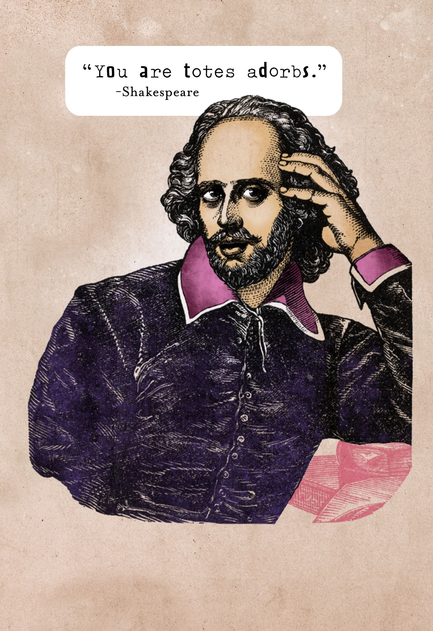 Happy Valentine S Day From Shakespeare And Hallmark Funny Birthday Cards Shakespeare Funny Totes Adorbs