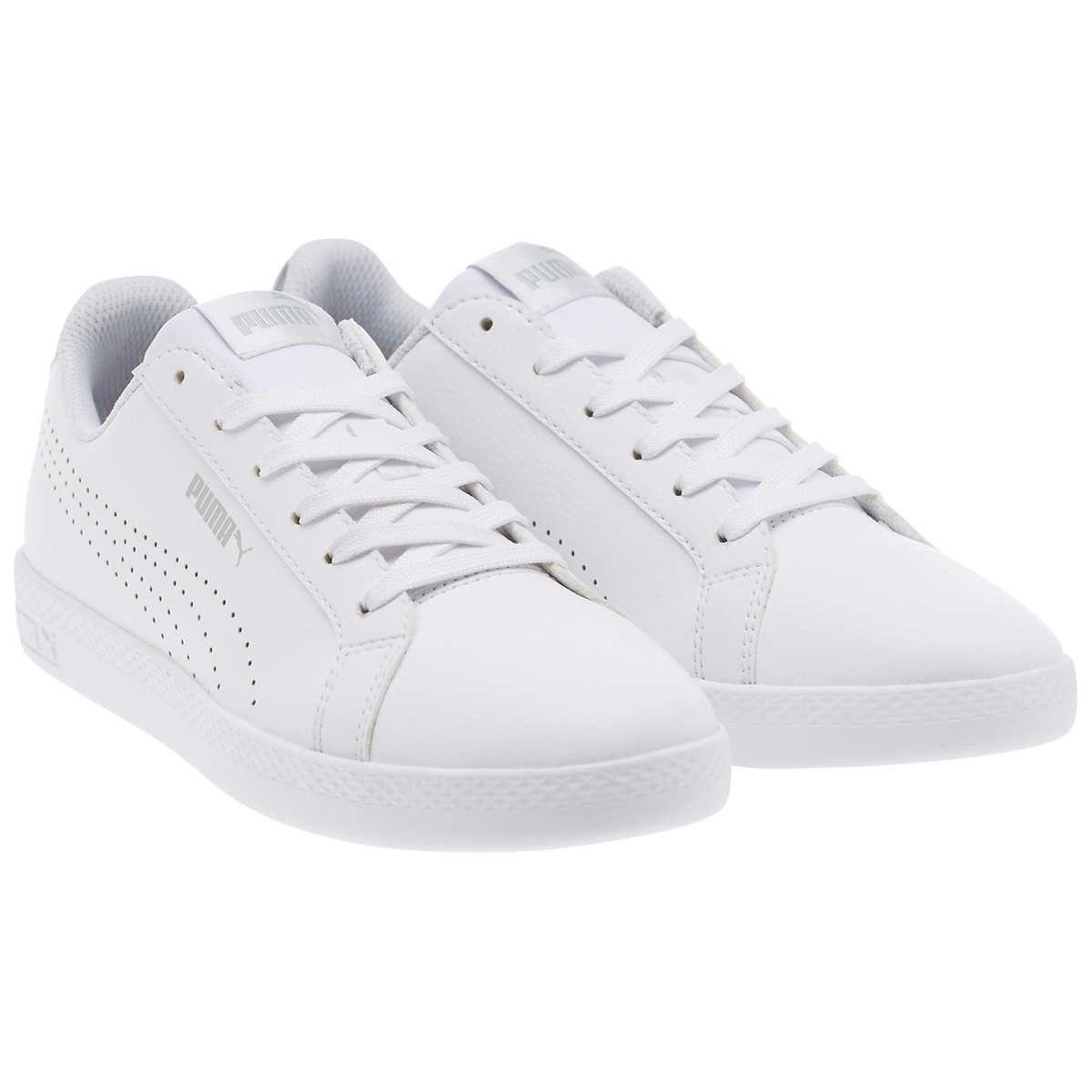 ladies white puma sneakers