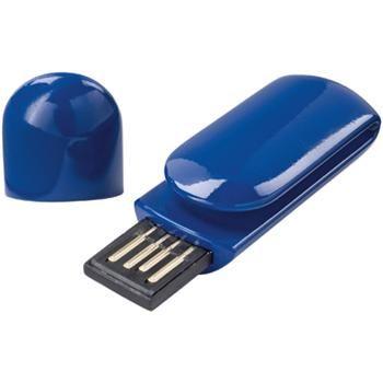 CHIAVETTA USB mod. 1Z391300, con clip. Dim. 6 x 1,8 x 1 cm. Consegnata in scatoletta singola.  Disponibile da 1 a 16 GB. Quantitativo minimo 100 pz. COLORE  blu, bianco, nero, verde