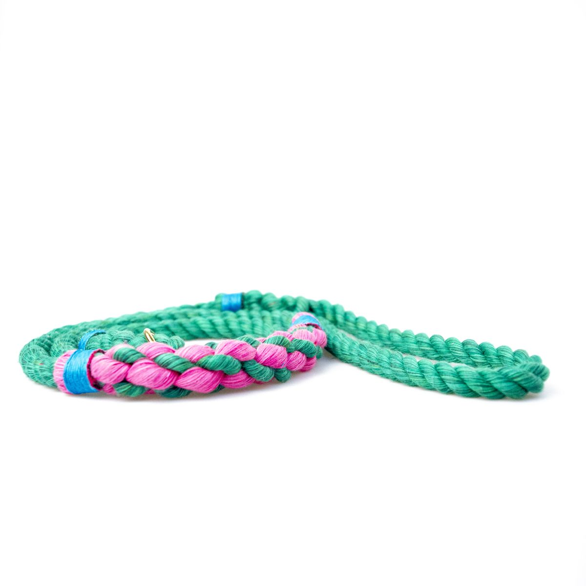 Green & Pink with sky blue accent