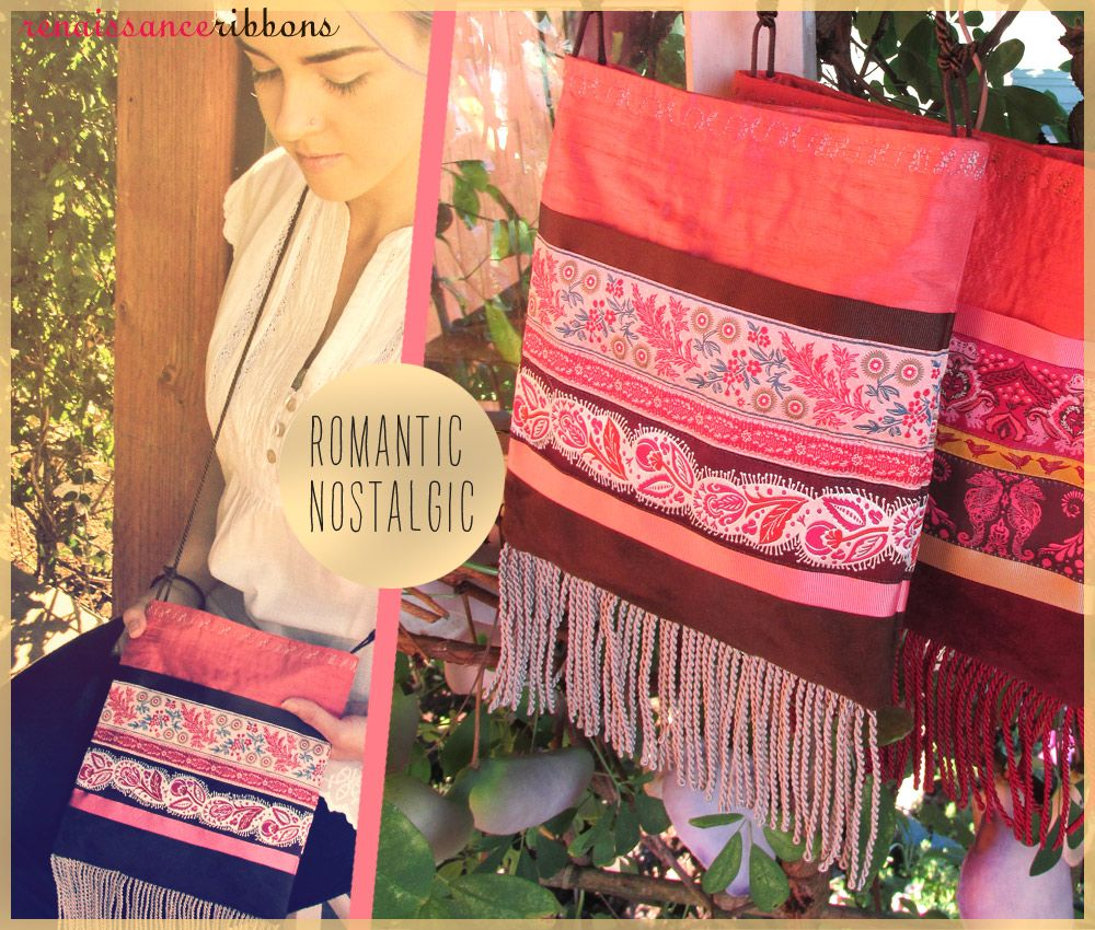 Ribbon & Fringe Bitty Boho Bags with Renaissance Ribbons | Sew4Home