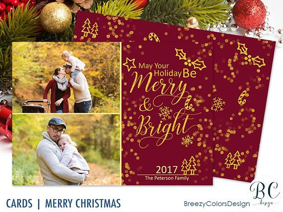 Christmas Cards With Photo Holiday Greeting Family Pictures X Mas Collage Layout Seasonal 5x7 Printable Etsy Christmas Christmas Photo Cards Etsy Handmade
