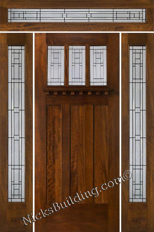 Charmant Front Door. Mission Style Door. Craftsman Door With Transom . More Wood  Doors At Www.nicksbuilding.com