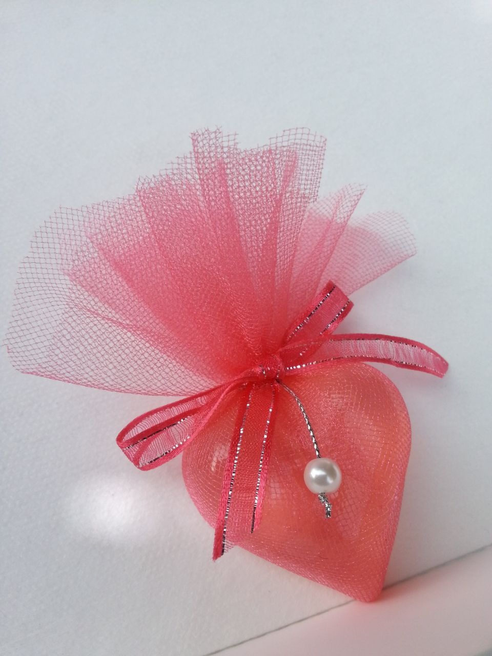 Jabón de glicerina en forma de corazón envuelto para regalo Baby ...