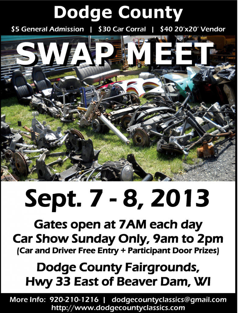 Dodge County Swap Meet - Automotive and motorcycle parts. Items ...
