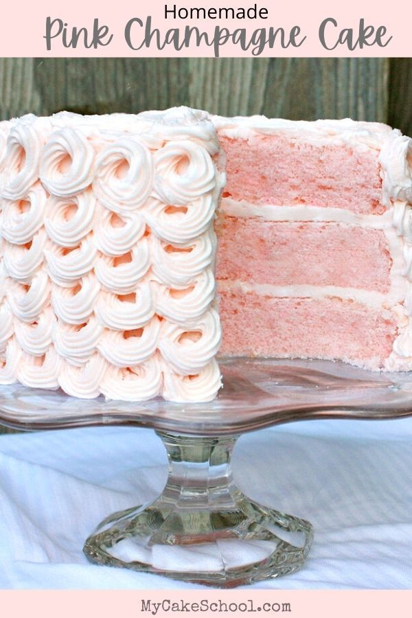 Photo of This moist and delicious Pink Champagne Cake is so elegant and has wonderful flavor! Keep it in mind
