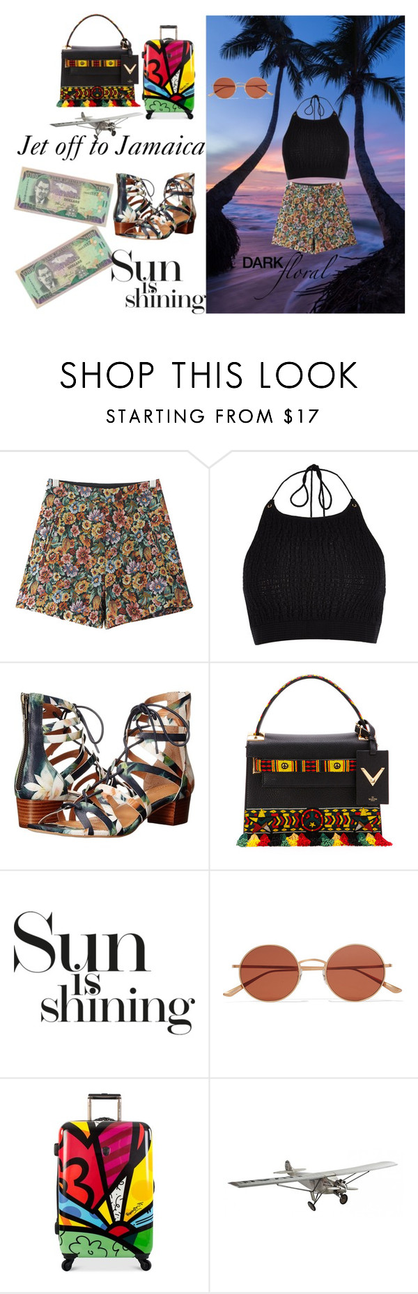 """""""Jet off to Jamaica"""" by queen-suga on Polyvore featuring Chicnova Fashion, River Island, Corso Como, Valentino, Oliver Peoples, Heys and AM-Living"""