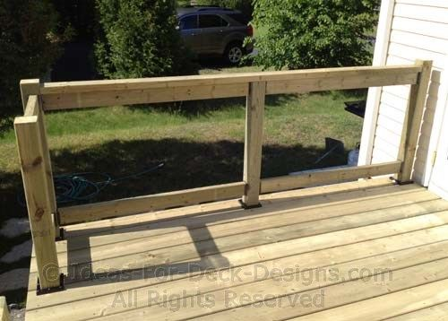 Building Wooden Railings Installing Wood Deck Railing Posts And Rails To Last Building A Deck Deck Railings Custom Deck Railing